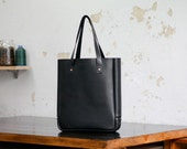 Leather Tote Bag, Medium, Laptop, Folio, Macbook, Art, Portait, Black, Australian, Leather Tote, Paterson Salisbury