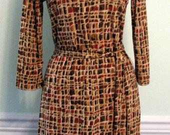1970s Fall Brown Dress Byer Too California