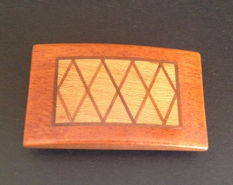 Belt Buckles with Mutiple in-laid Fine Woods Custom Made - Choice of Four Unique Patterns