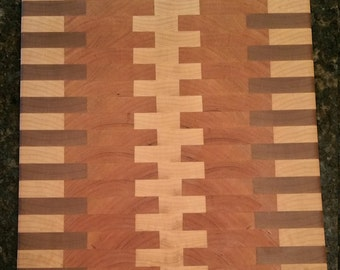11x14 End Grain, Maple and Cherry Custom Cutting Board