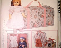 1990s McCalls 9119 P362 Craft Pattern for Accessories for an 18 inch Doll - Uncut
