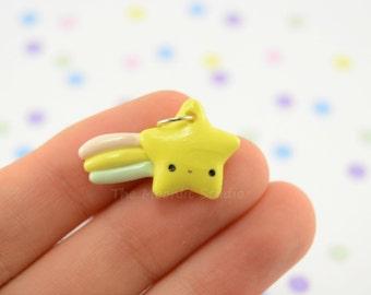 Kawaii Shooting Stars, Polymer Clay Miniature