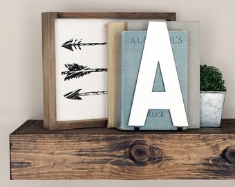 Alphabet Letters & Ampersand Metal Decor- Anthropologie Inspired Steel Metal Letters Decor with Stands, Bookend, Shelfie