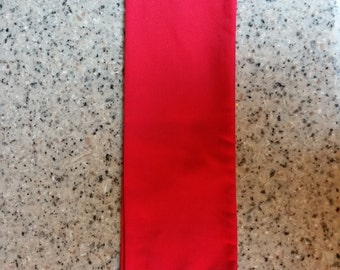 RED Sash for costume,military, dictator, cosplay, halloween, pirate, steampunk, larp, with fringe and trim