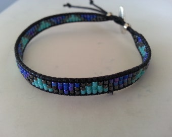 Simple Delica beads bracelets