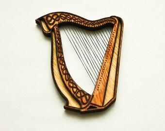 Fridge magnet. Irish Harp.