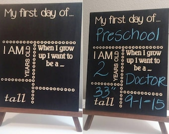 First day of School Chalkboard Signs