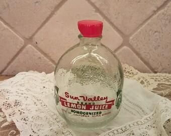 Antique Glass Lemon Bottle