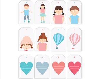 gift tags printable,gigt tags prints,Etiquetas infantiles,decor kids printable,kids tags, baby tags printable, kids decor,baby shower tags