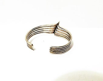 "Free Shipping Vtg Sterling Small 5.5"" Cuff Bracelet."