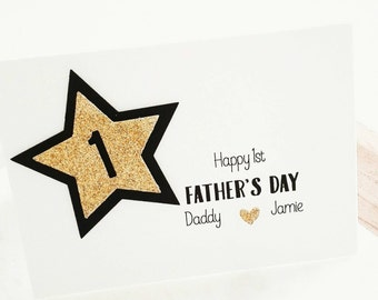 Happy First Father's Day Card from Baby Son Daughter, New Dad Card, 1st Father's Day, New Daddy Card, New Dad Gift, Grandfather Gift