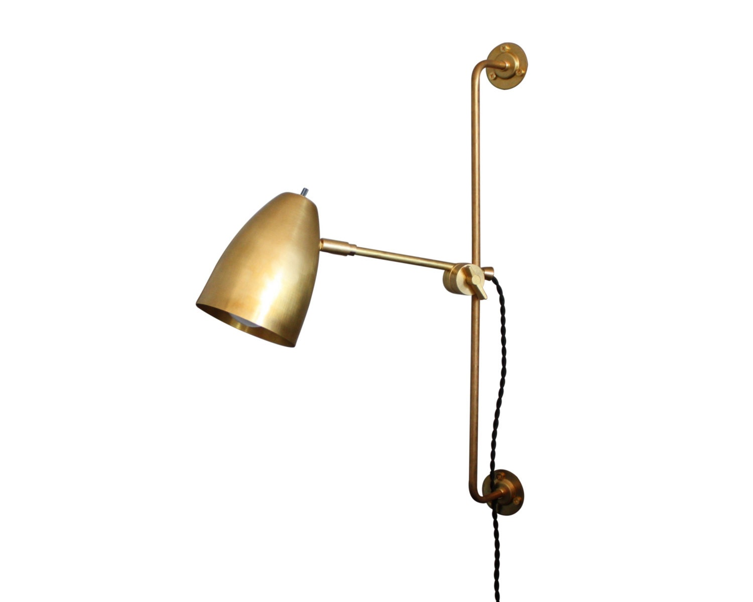 Articulating Brass Lamp Irwin Task Sconce Plug In Wall