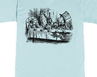 Men's T-shirt - Alice in Wonderland Tea Party - Mad Hatter Tshirt - Graphic tee