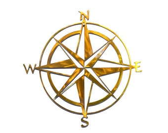 "Compass Rose Metal Wall Art = 12""x12"""