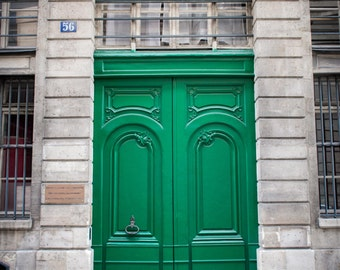 "Paris Photography, Color Photography, Paris Architecture, Paris Door, Paris Print, Green, Wall Art, paris print, ""Parisian Door: Green"""""