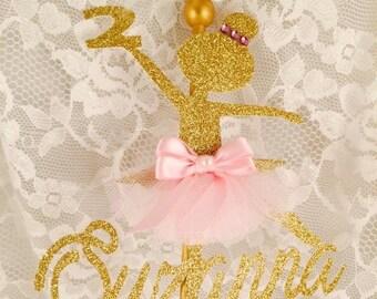 Ballerina Cake Topper - Ballerina Birthday Party - Ballerina Party Decorations - Ballet Event - Ballet Cake Topper - Ballet Birthday Party
