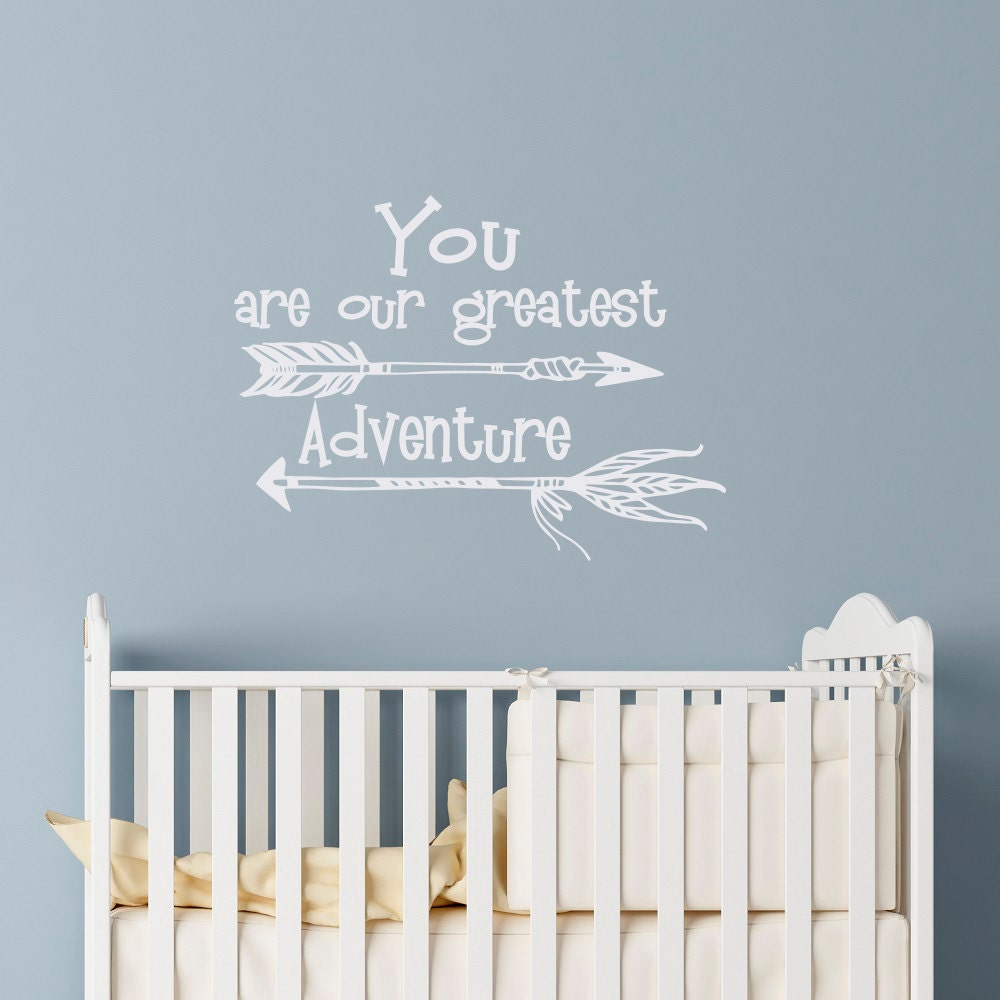 Baby nursery wall decal you are our greatest blessing a gift nursery wall decal quote you are our greatest adventure baby nursery wall decals sayings amipublicfo Images