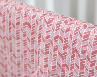 Organic cotton and bamboo baby blanket, pink hopscotch - dark pink & light pink - girl