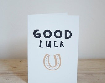 Good Luck – Illustrated card