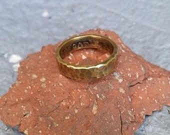 Hammered finish Funspot token ring with patina.Size 7.25