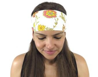 Yoga Headband Bohemian Headband Fitness Headband Workout Headband Running Headband White Headband Women Turban No Slip Wide Headband S163