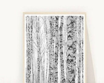 Abstract Art print, Tree Print, Printable Art,  Minimalist Art, Scandinavian Trees, Tree Photo, Tree Art,  Instant Download, Wall Decor,