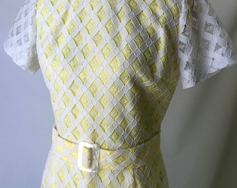 1960's Formal Lace and Taffeta fitted gown