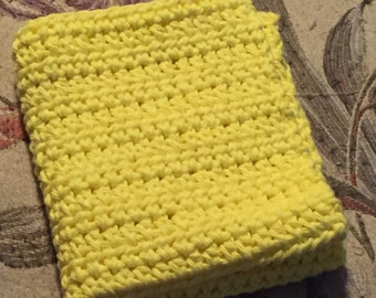 Crocheted Dishcloth, Yellow