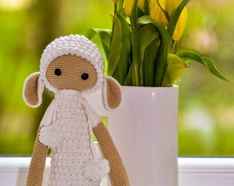Crochet lalylala sheep - lamb doll