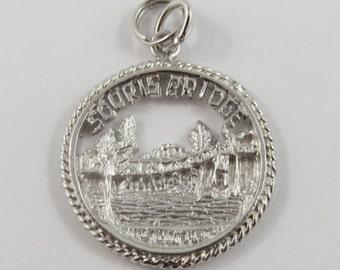 Manitoba Souris Swinging Bridge 582FT Sterling Silver Vintage Charm For Bracelet