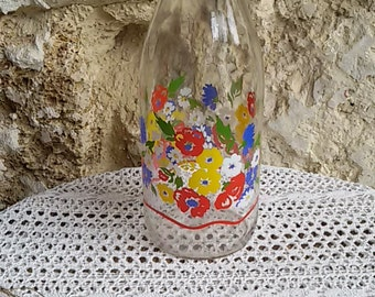 """Bottle of milk glass flower """"The perfect"""" / French vintage 80"""