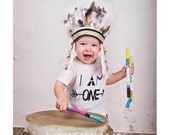 I Am One - First Birthday - Baby Bodysuit - Kid Shirt - Tribal Arrows - Any Number