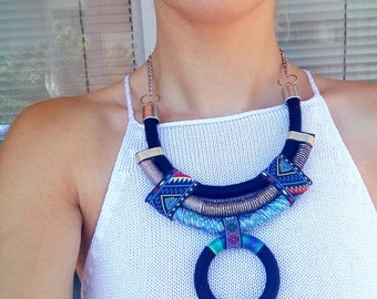Choker, Rope Necklace, Statement Necklace, Choker necklace, Boho Choker, African Necklace, African Jewelry, Gif For Her, Necklaces