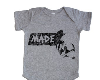Made In Massachusetts Boston Baby Infant Bodysuit Onesie