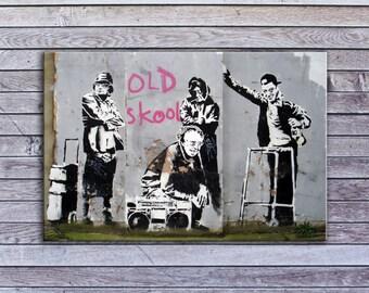 """Banksy, Old Skool Elders (8"""" x 12"""") - Canvas Wrap Print"""