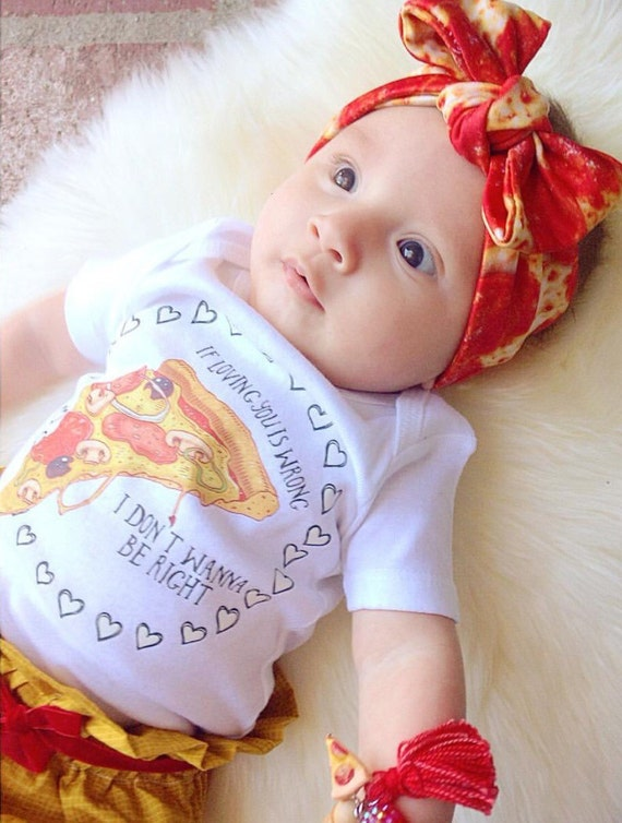 Baby Gifts For Either Gender : Pizza valentine funny baby shirt one piece creeper by
