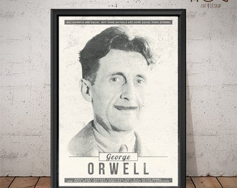 Orwell poster | Etsy