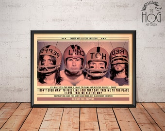 Red Hot Chili Peppers Poster - Quote Retro Music Poster - Music Print, Wall Art