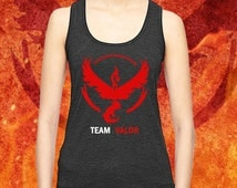 Pokémon GO Team Valor Tank Top, Team Valor Shirt, Pokemon Moltres Soft High Quality Vinyl Women Tank Top