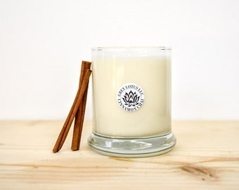 Cinnamon Chai Candle || Hand Poured || Organic Soy Candle // 9 oz. Glass