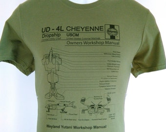 aliens 1986 sci fi film movie weyland yutani colonial marines tee t shirt