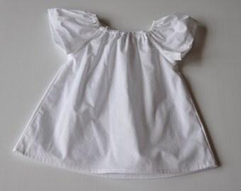 White Flutter Sleeve Top