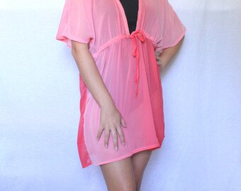 Women's Swimsuit Coverup, Beachwear, Coral Swimsuit Cover-up