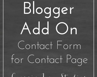 Add Blogger Contact Form for Contact Page - Blogger Add On - Customization
