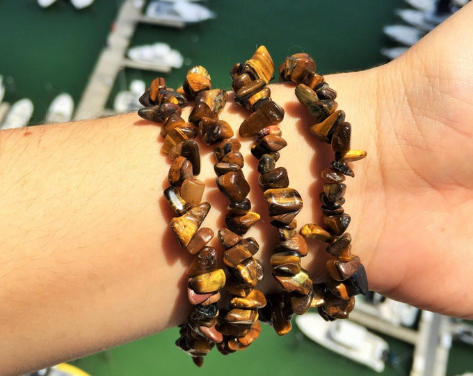 Tigers Eye Bracelet infused with Reiki / Healing Tigers Eye Jewelry / Mens bracelet