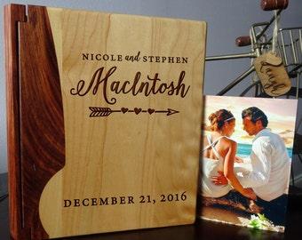 Personalized photo album, Custom Photo Album, Wood photo album, Wedding gift, Howsewarming gift  - 101 design