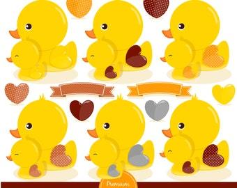 Rubber duck clipart, Rubber ducky, duck clipart, baby clipart, baby shower clipart, ducks clipart - CA310