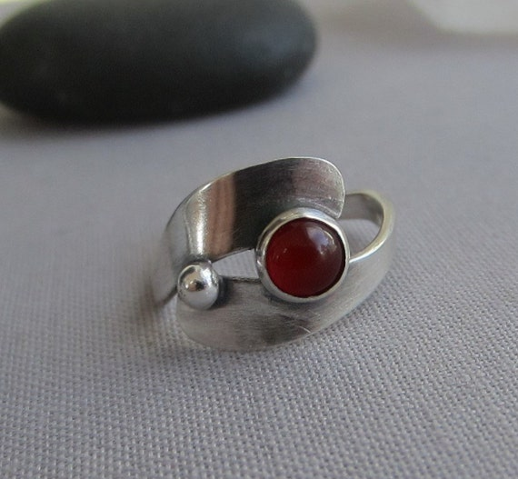 sterling silver ring contemporary silver ring by