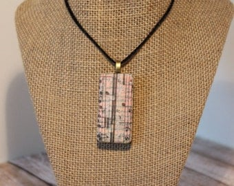 Mixed Media Altered Domino Pendant