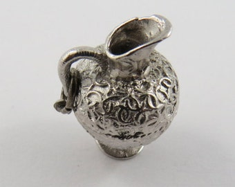 Fancy Jug Sterling Silver Charm or Pendant.